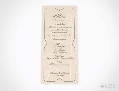 menu minuta boda vintage otoñal giset wedding