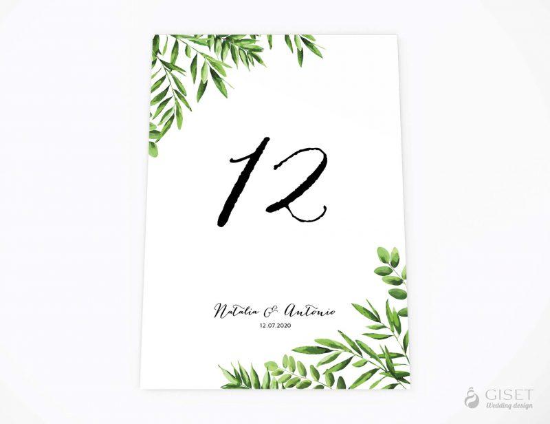 meseros de boda con hojas verdes giset wedding