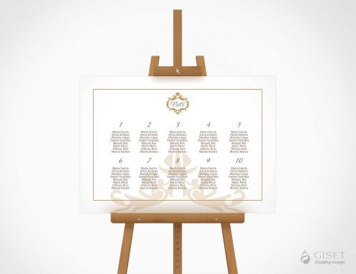 seating plan de boda clasico giset wedding