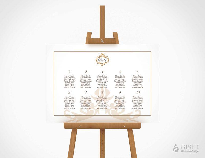 seating plan de boda clasico giset wedding