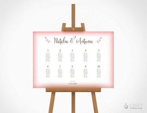 seating plan de boda sencillo giset wedding