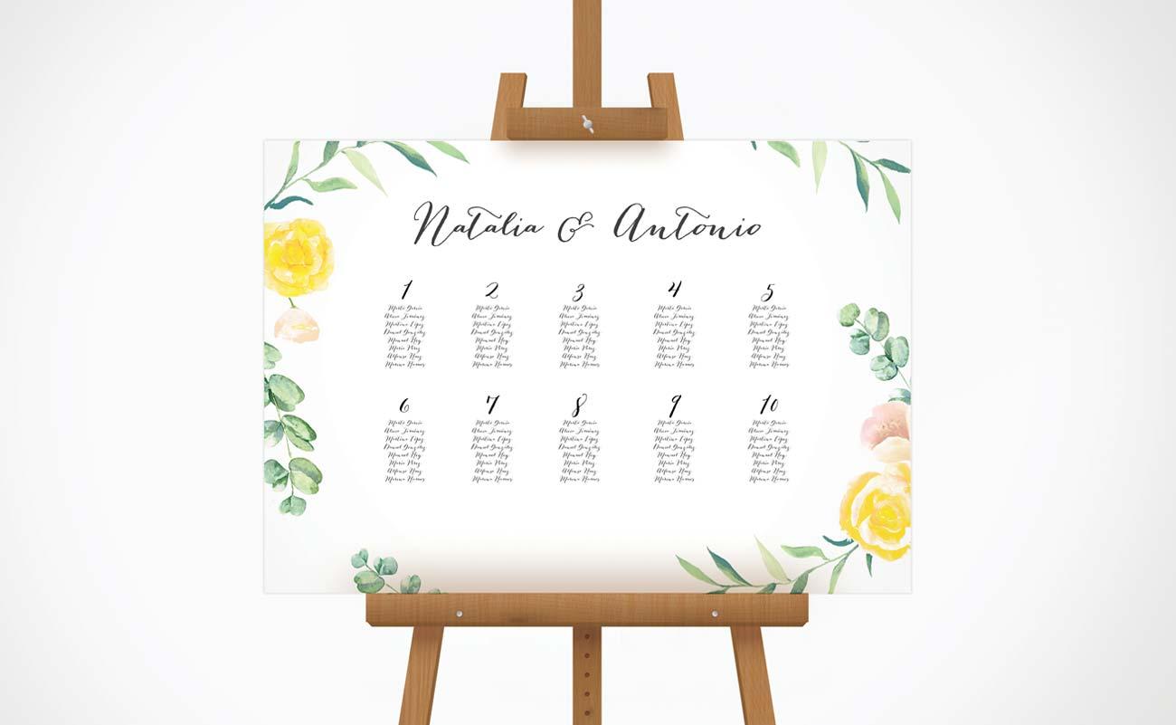 seating plan de boda comprar online
